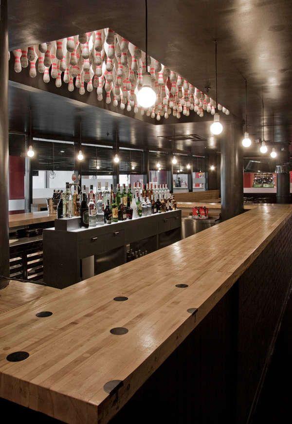 Bowling Inspired Bar Cafes Bowling Bowling Pins Bowling Center