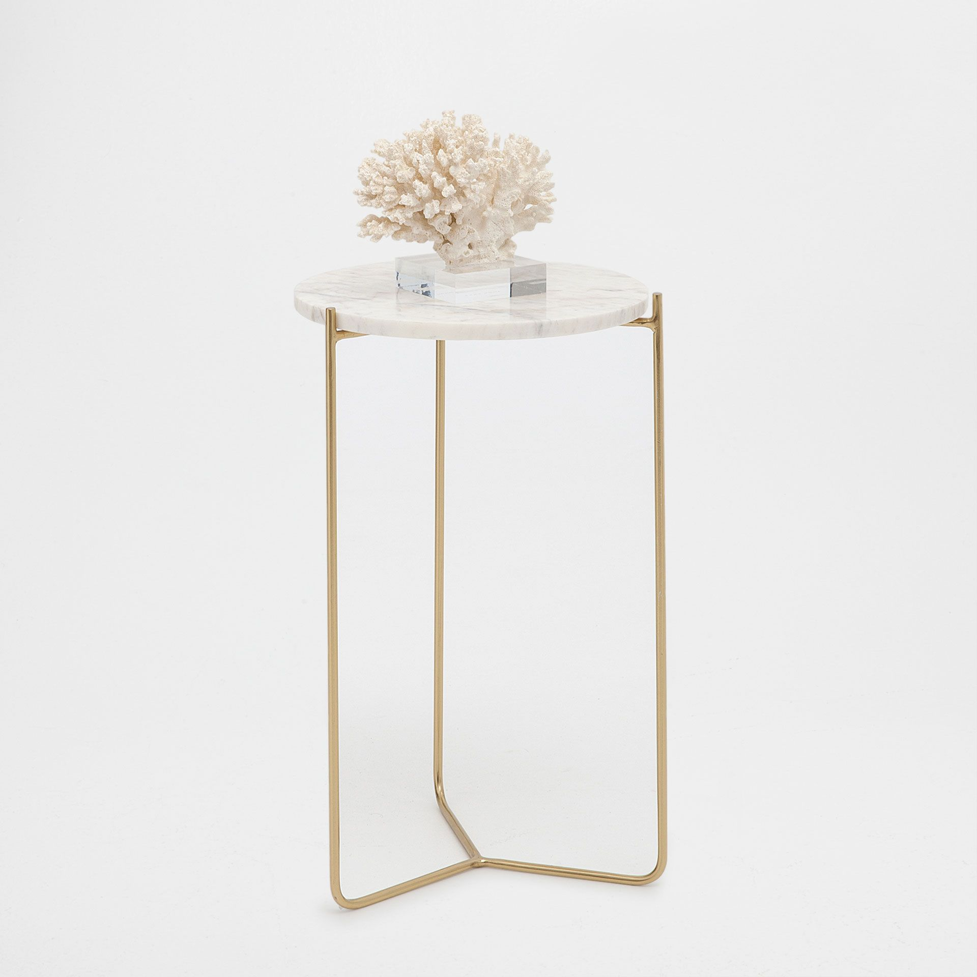 round white marble side table table d