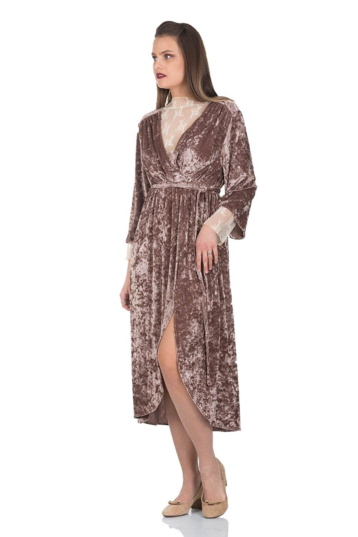 Simply love uvelvet dreamu maxi dress envelope womenus velour long