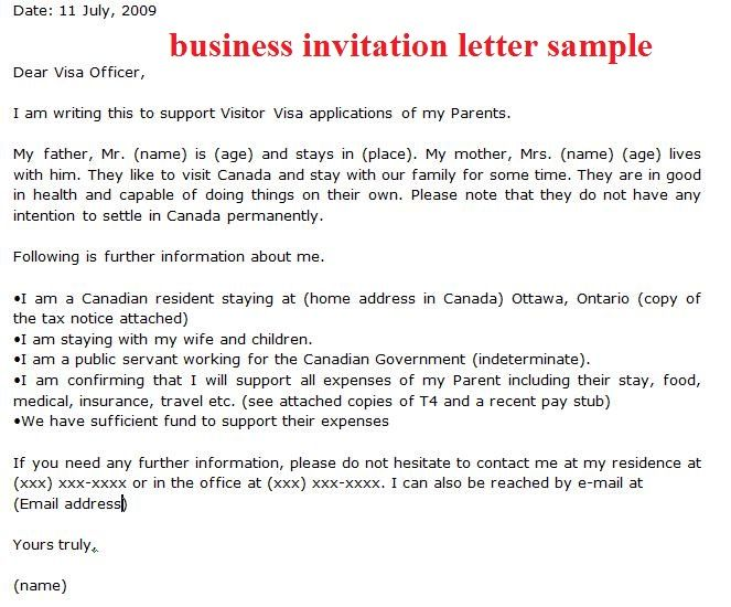 Sample Business Invitation Letter How Write Download Free