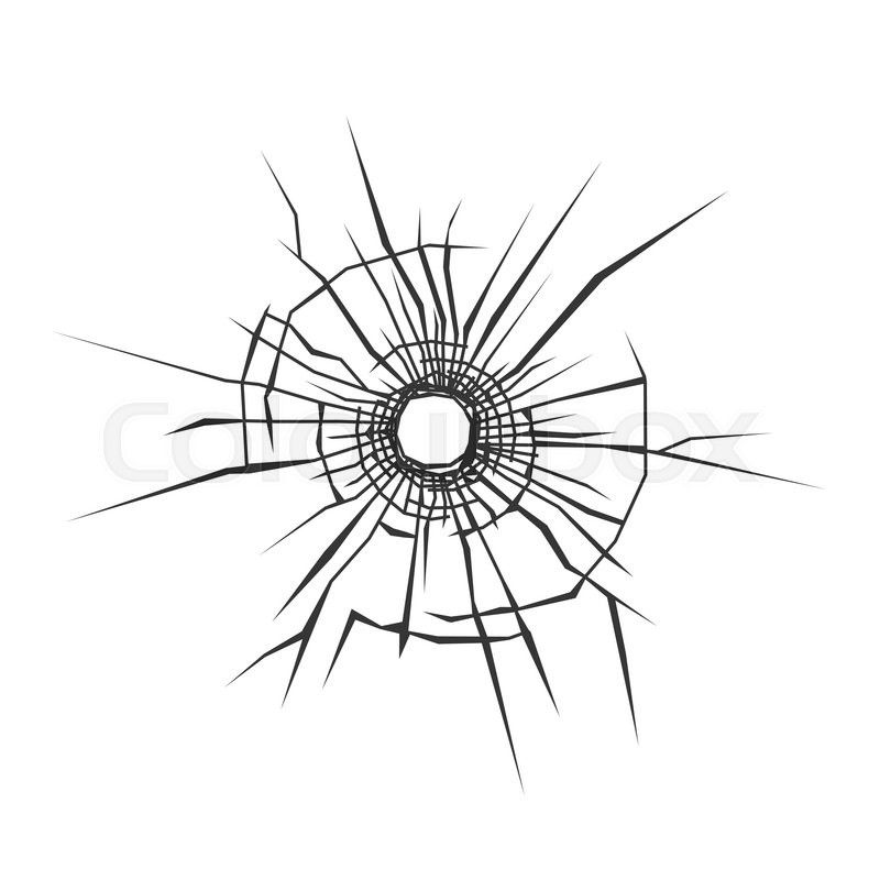 Stock Vector Of Bullet Hole In Glass White Background Vector Illustration Hole Drawing Bullet Holes Old School Tattoo Designs