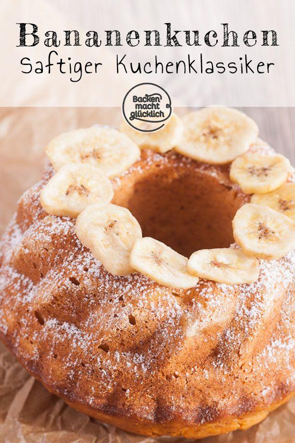 Einfacher Bananenkuchen | Backen macht glücklich #rührteiggrundrezept