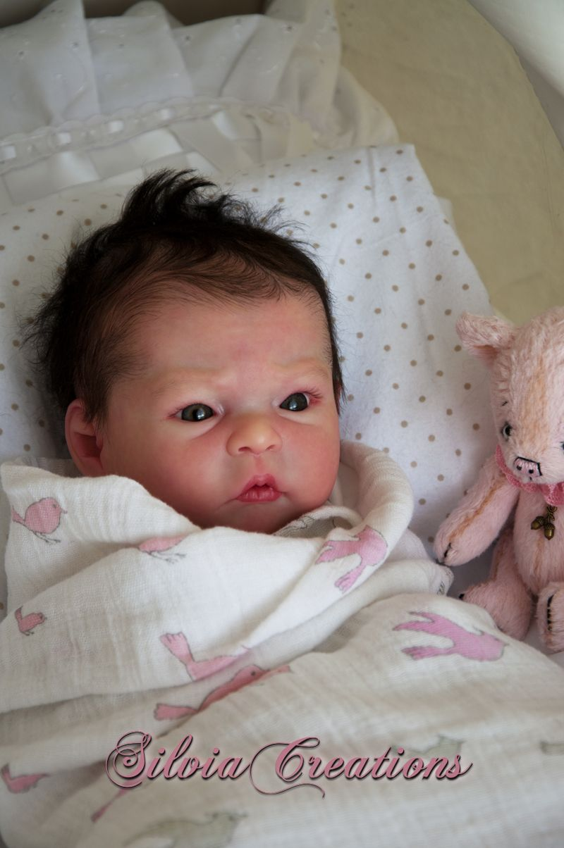 Cute Reborn Baby Doll Soft Silicone 18 Inch Handmade Baby: Details About **SILVIACREATIONS** GRACE Prototype By JORJA
