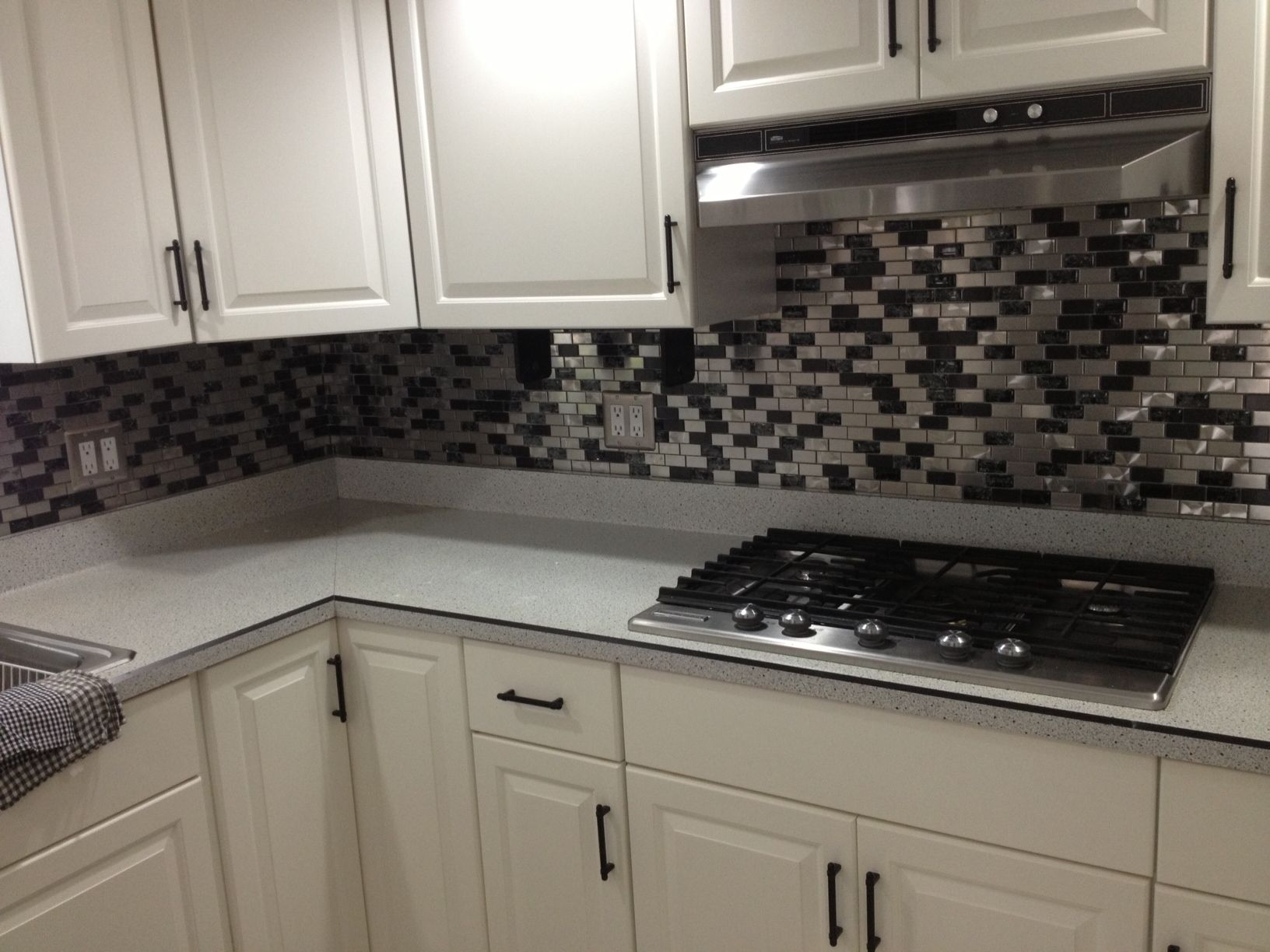 Eden Mosaic Tile Stainless Steel And Crackled