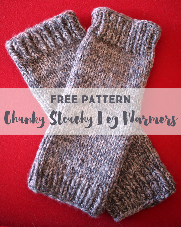 Free Knitting Pattern Chunky Slouchy Leg Warmers Knitted Boot