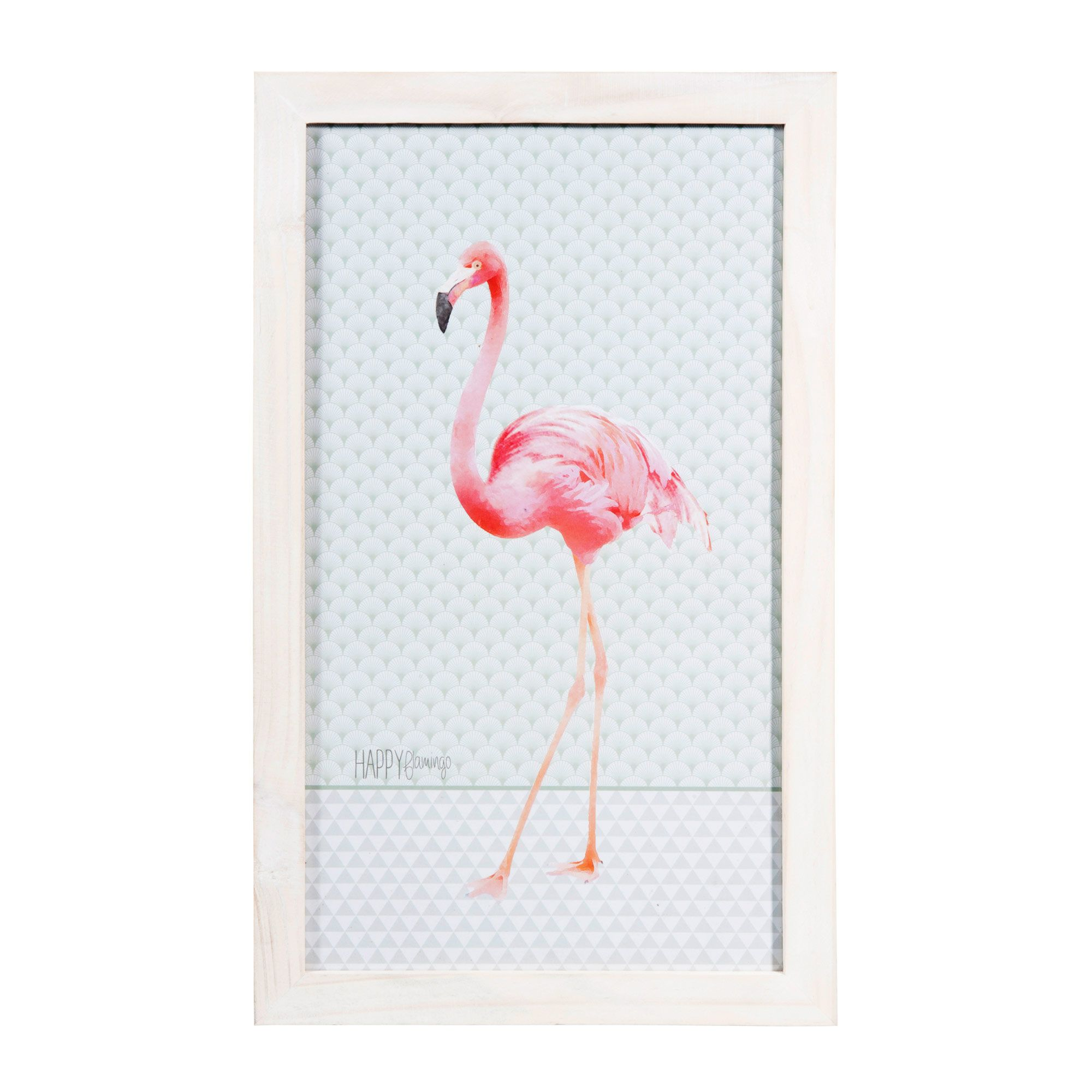 tableau en bois 28 x 46 cm happy flamingo maisons du monde pink flamingo flamant rose. Black Bedroom Furniture Sets. Home Design Ideas