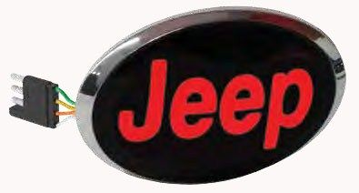 Jeep Led Lighted Trailer Hitch Cover 1 1 4 And 2 Hitches