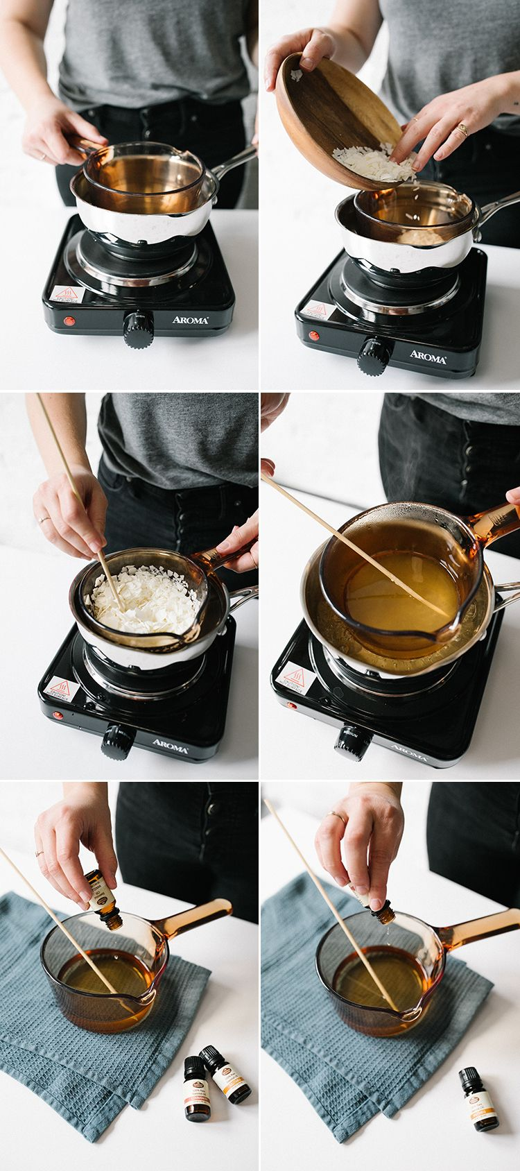Eggnog Soy Wax Candle DIY with Essential Oils