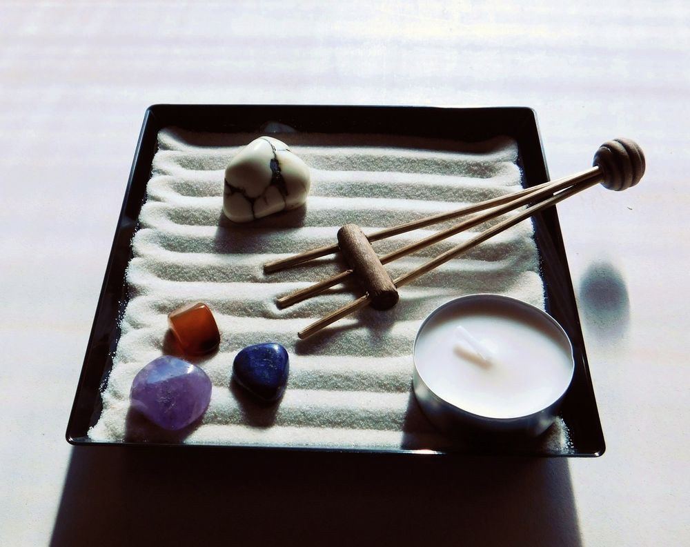 Ufficio Zen Garden : Giardino zen nero regalo gift natale scrivania casa ufficio
