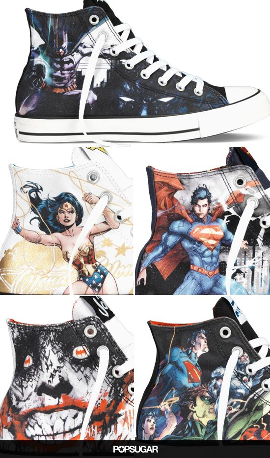 Batman, Wonder Woman, and Superman Are Now on Converse All