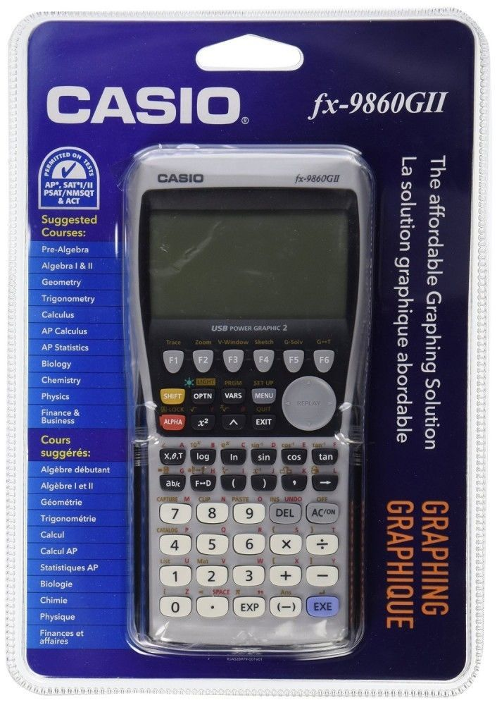 Casio Fx 9860 Gii Graphing Calculator 1097 Function Casio Graphing Calculator Calculator Graphing Calculators