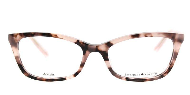 ece59717cadf Kate Spade KS Delacy RS3 Havana Rose Cat-Eye Plastic Eyeglasses ...