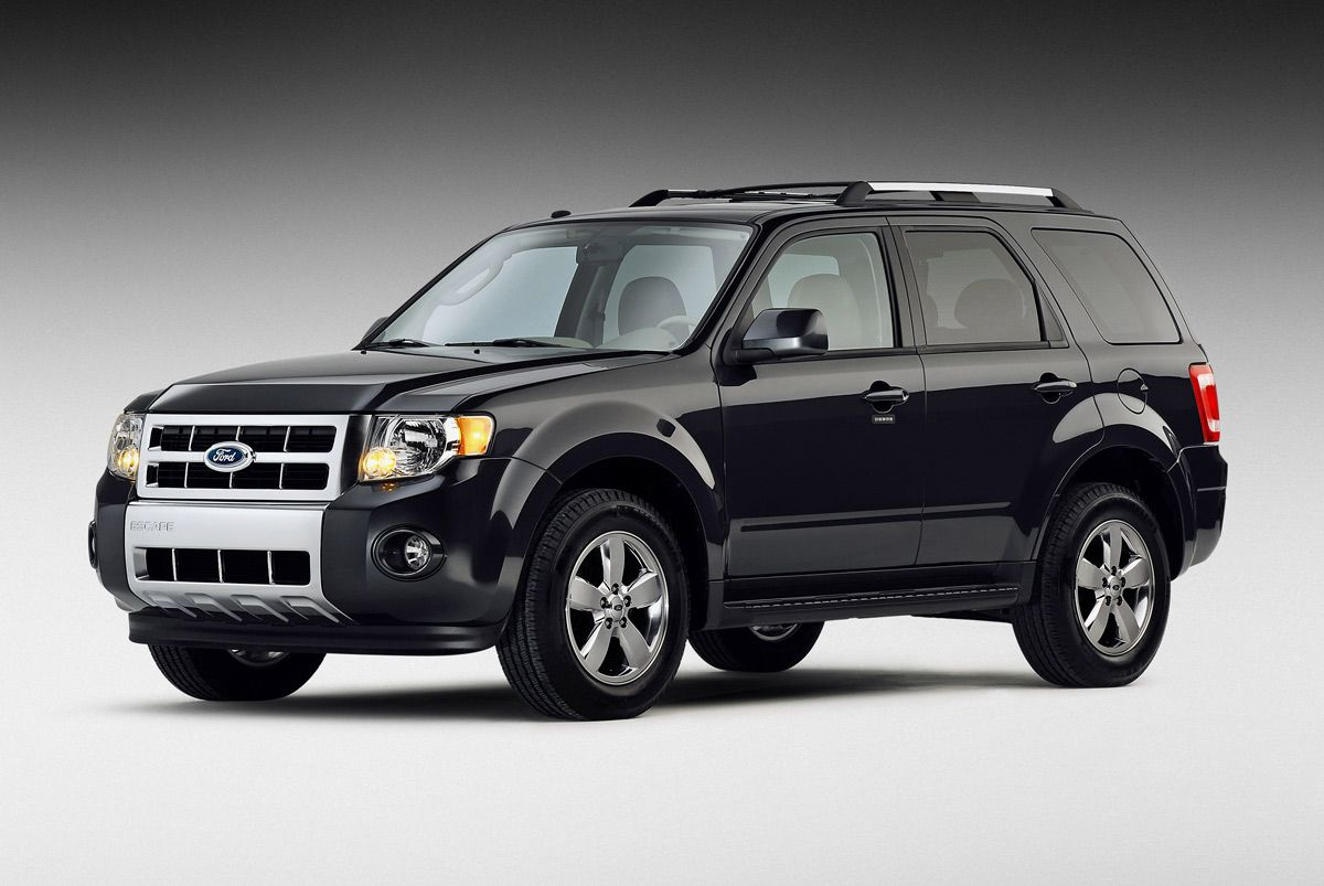 The Ford Escape Suv Get Behind The Wheel Shut The Door Start It