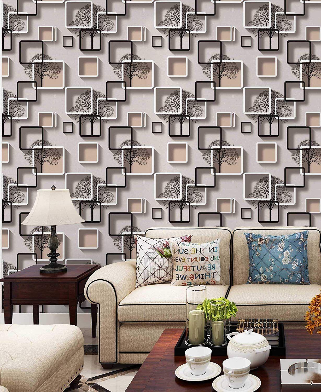 Eurotex Textured Pvc Vinyl Coated 3d Wallpaper Home Decoration White N Peach 57sqft Per Roll 8132 Home Decor Wallpaper Living Room 3d Wallpaper Home