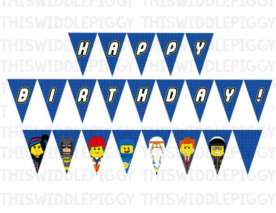 Printable Lego Birthday Bunting Banner! Instant download from www.etsy.com/shop/ThisWiddlePiggy