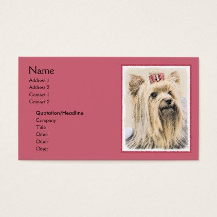 Yorkshire terrier business card yorkshire terrier puppy yorkshire terrier business card yorkshire terrier puppy terriers dog reheart Choice Image
