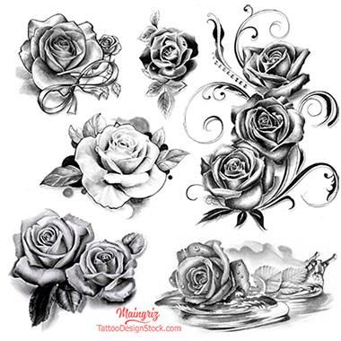 10 X Fairies Flash Tattoo Design Download 1 Realistic Rose