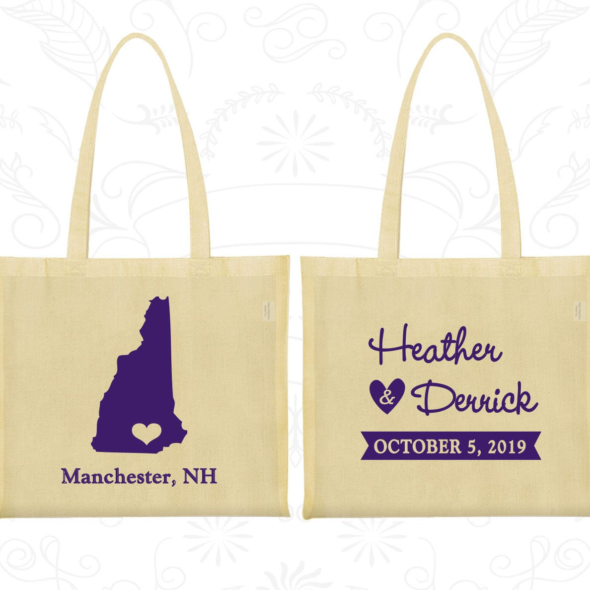Cotton Bag, Tote Bags, Wedding Tote Bags, Personalized Tote Bags ...