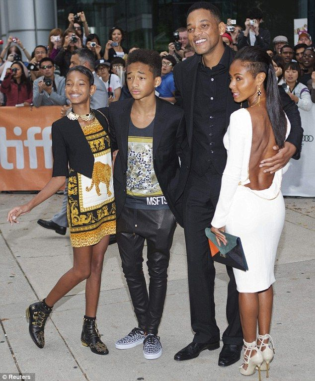 Family affair: Jada and Will Smith also took along their children Willow  and Jaden