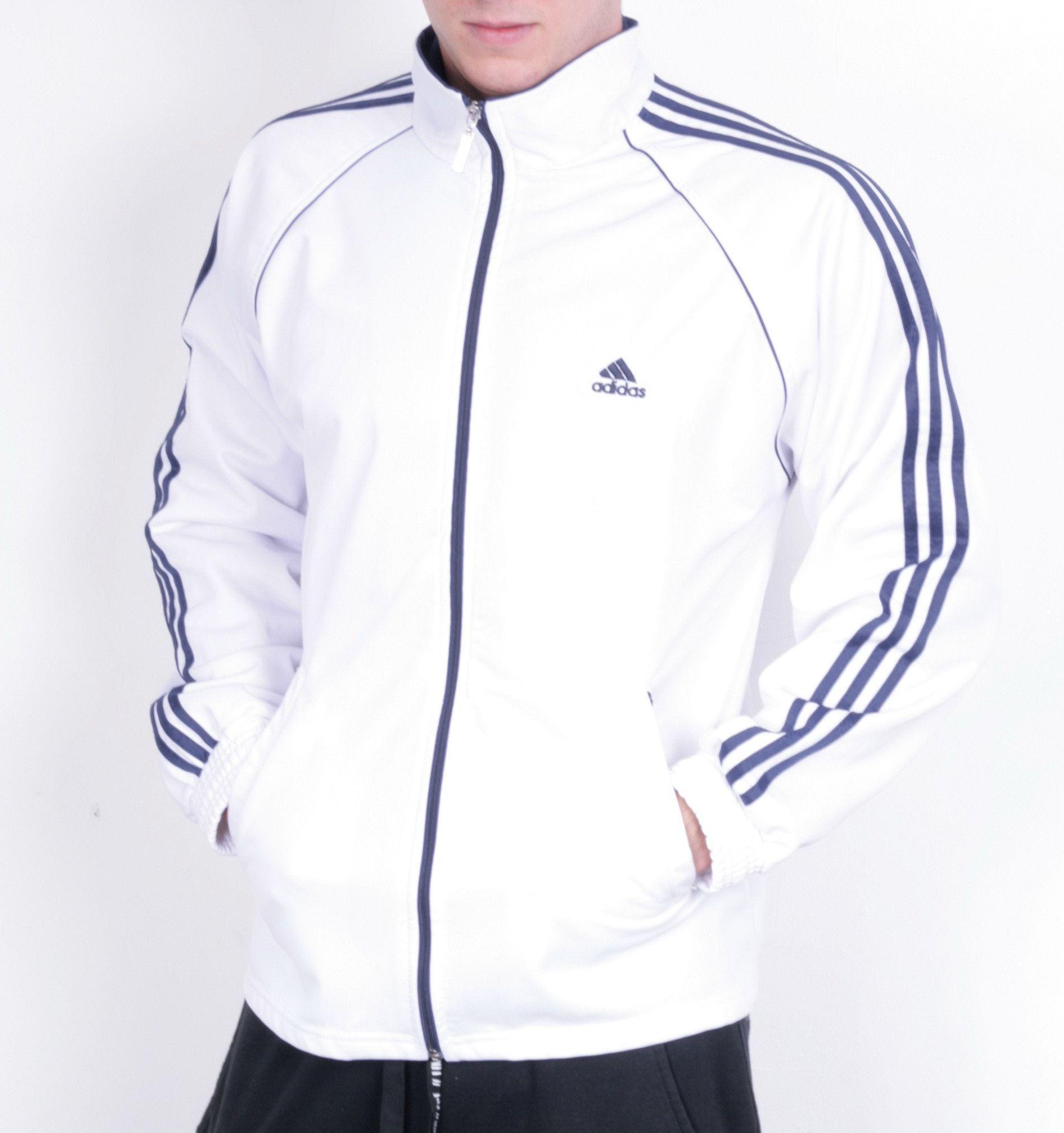 all white adidas jacket