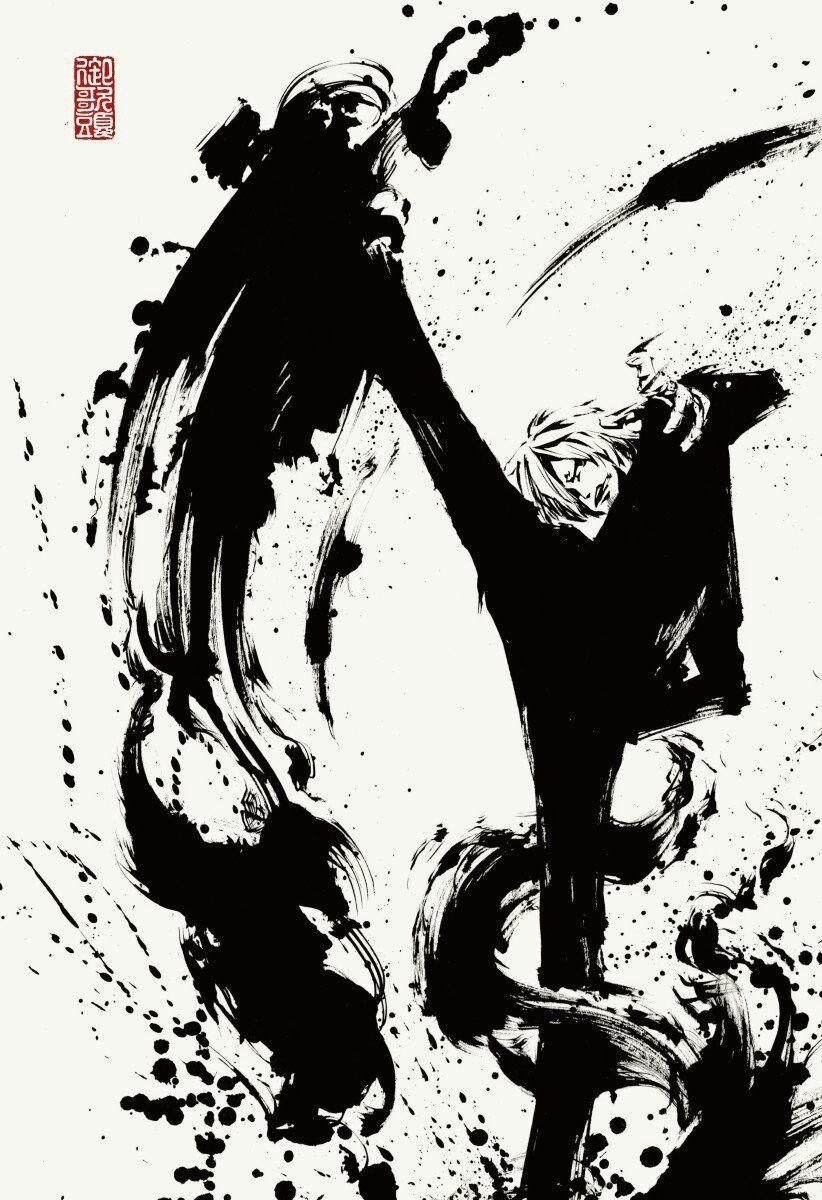 Sanji One Piece Onepiece Op Anime Manga Plusultra 墨絵