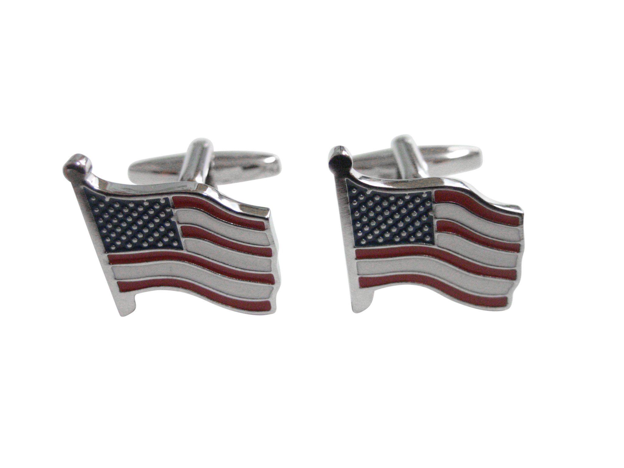 Kiola Designs Waving USA American Flag Tie Tack