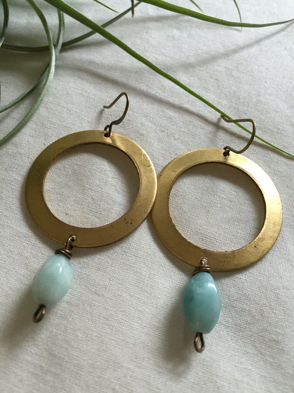 A personal favorite from my Etsy shop https://www.etsy.com/listing/263719412/amazonite-earrings