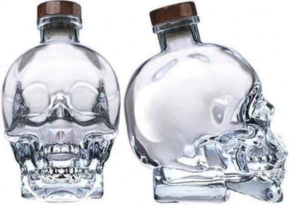 Liquor skull bottle