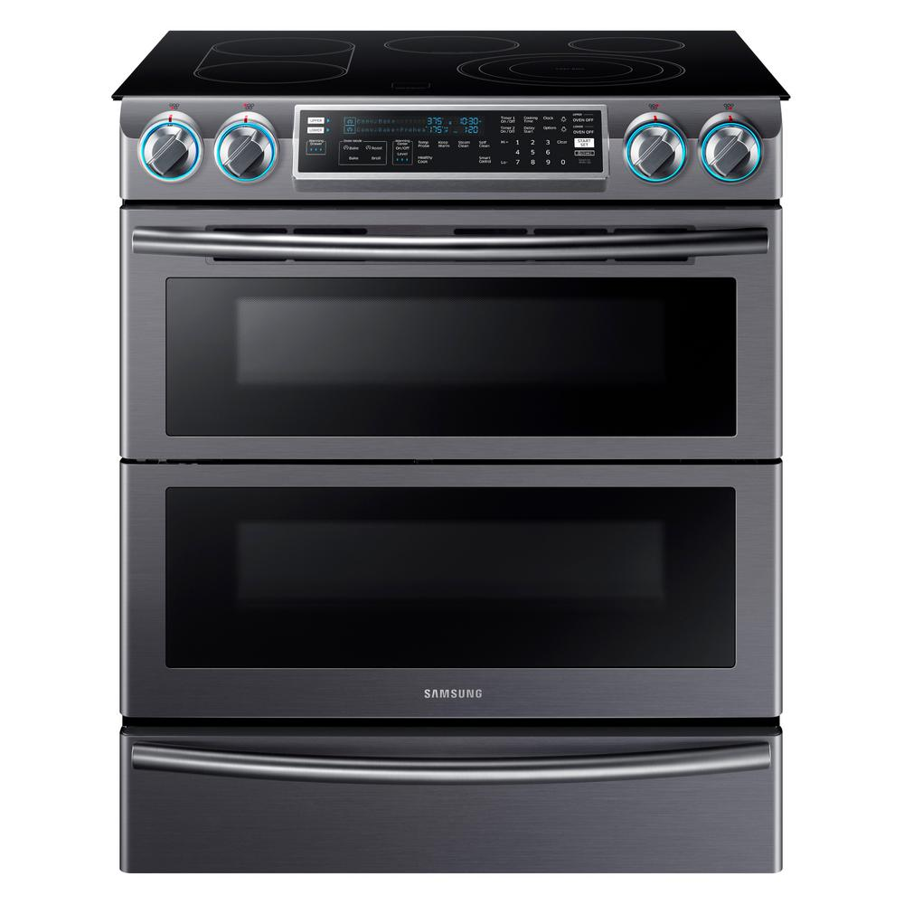 Slide In Double Oven Electric Range With Self Cleaning Convection