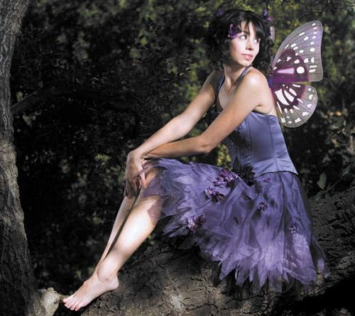 The Costume Was Made From Old Purple Dress And The Butterfly Wings