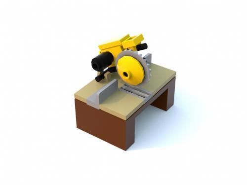 LEGO Set MOC-5155 Radial Arm Saw - building instructions and parts ...