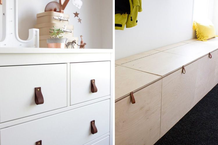 Tiradores de cuero para renovar tus muebles | Design | Pinterest ...