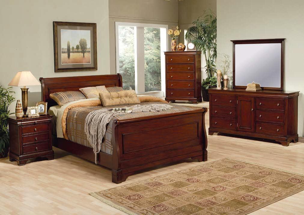 Versailles Traditional Deep Mahogany Master Bedroom Set Bedrooms