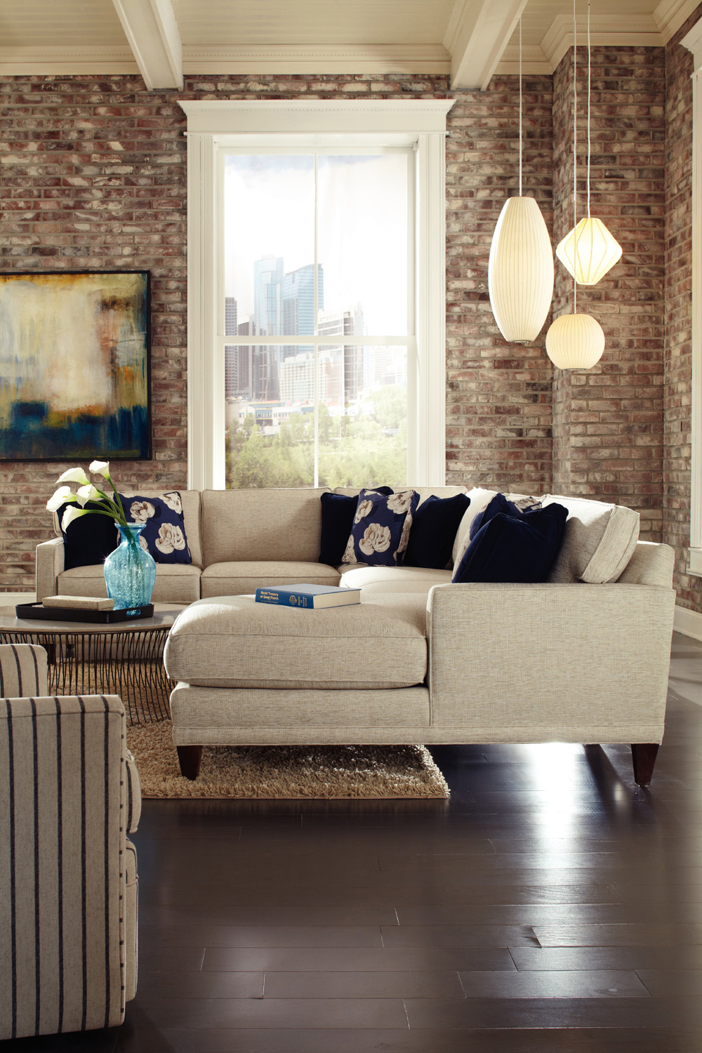 Townsend 3-Piece Sectional | Rowe Furniture | Home Gallery ...