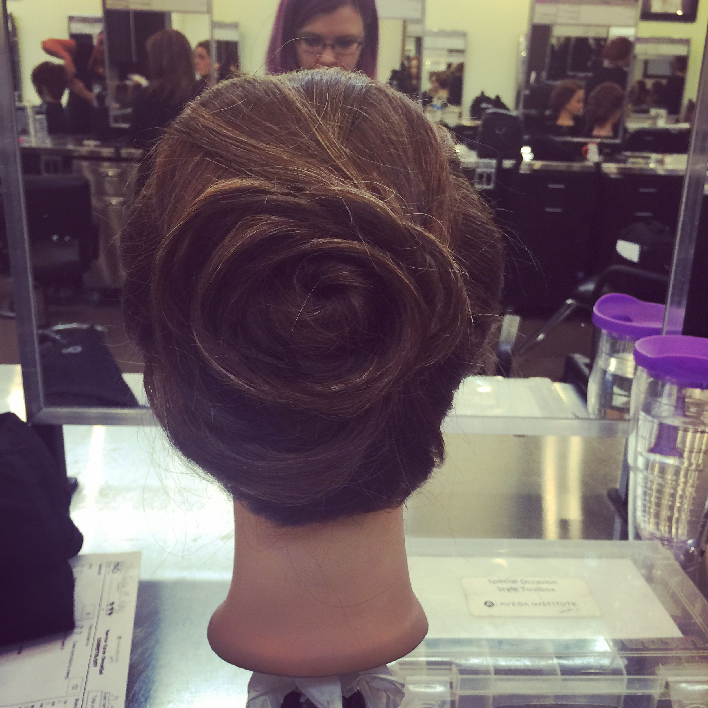 Rose bun updo my work pinterest rose bun bun updo and updo