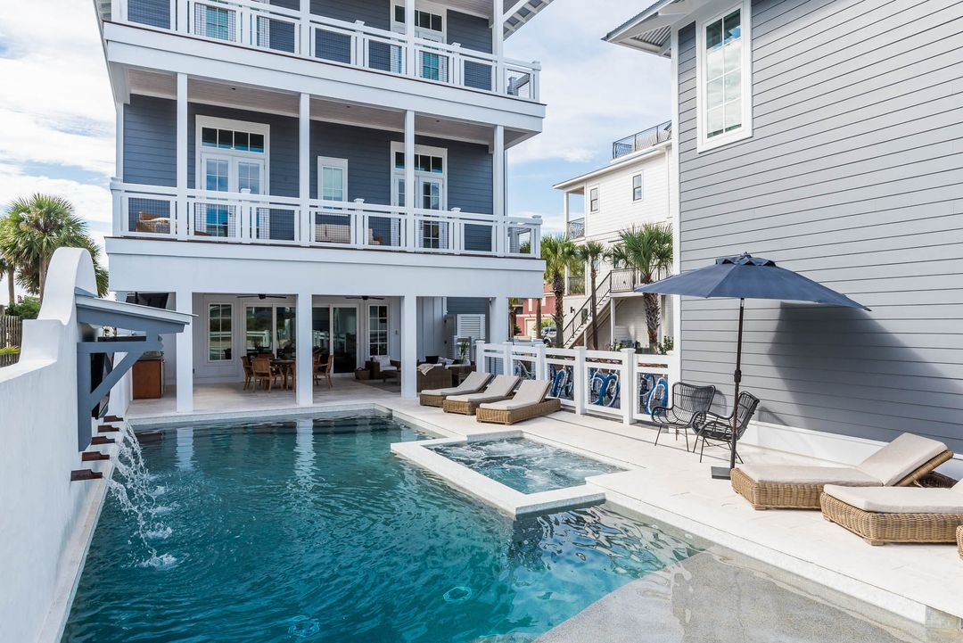 Life Is Best Spent By The Pool Welcome To The Perfect Location For Several Families Or A Multi Generational Fam Seagrove Beach Vacation Home Beach House