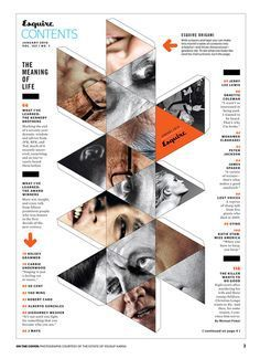 Image result for magazine table of contents design | Table of ...