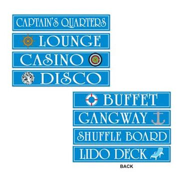 Cruise SHIP Party Street Sign Cutout Decorations New | eBay