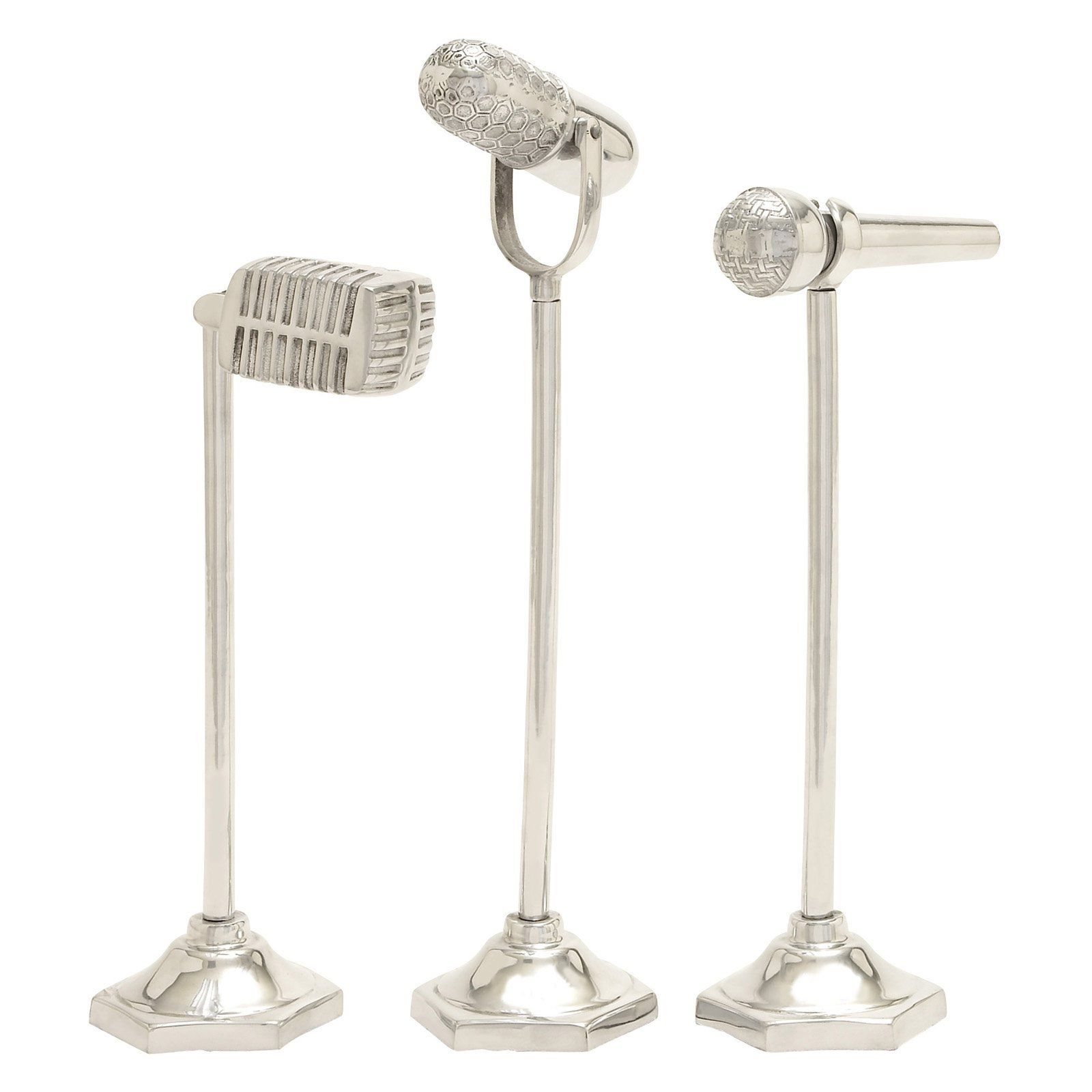 DecMode 3 Piece Microphone Decorative Sculptures | from hayneedle.com