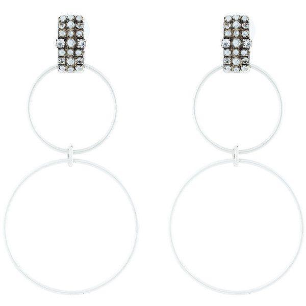 Dannijo Dido double hoop Swarovski crystal earrings f9raLF