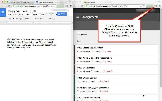 3 Chrome Extensions that Make Google Classroom Even More Awesome - google docs spreadsheet