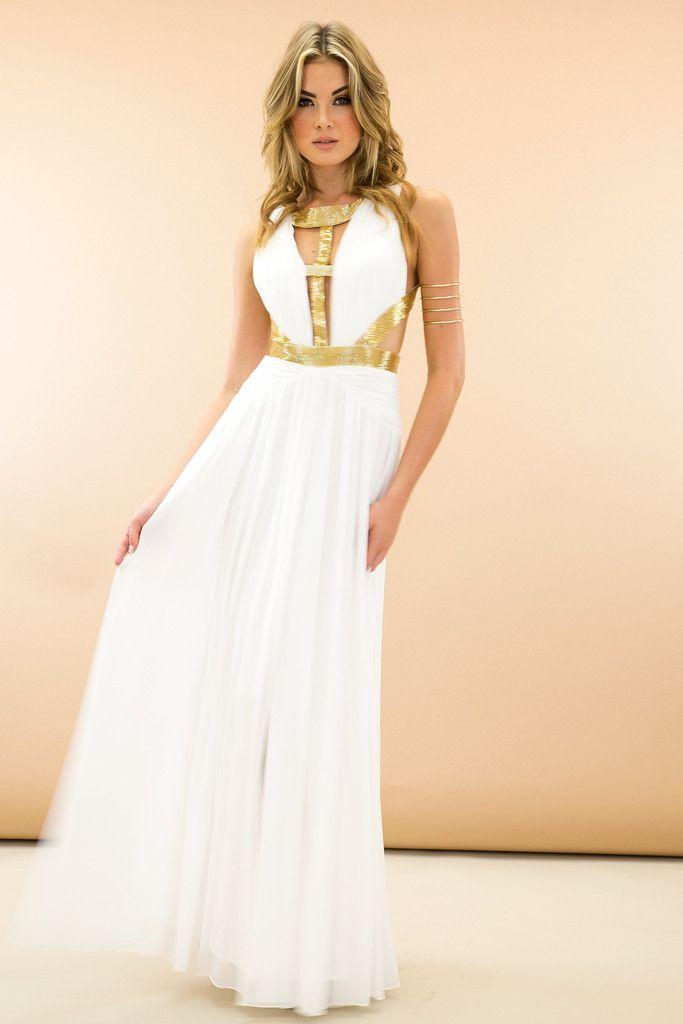be848134df Cleo Grecian Goddess Maxi Dress - White