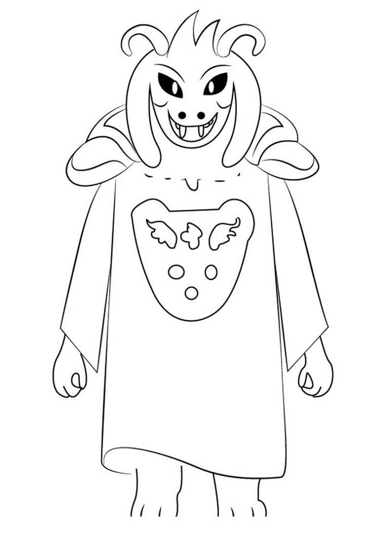 Undertale Asriel Dreemur Coloring Pages Coloring Pages Printable Coloring Pages Coloring Pages To Print