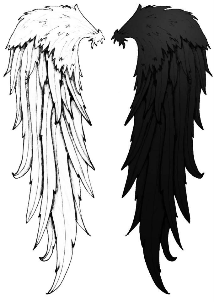 Cool Cool Angel Wings Black And White Tattoo Idea Cute Wings