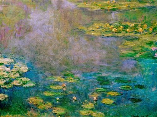 Water Lilies Completion Date: 1906 Style: Impressionism Series: Water Lilies Genre: flower painting