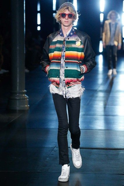 Catwalk photos and all the looks from Saint Laurent Spring/Summer 2016 Menswear Paris Fashion Week