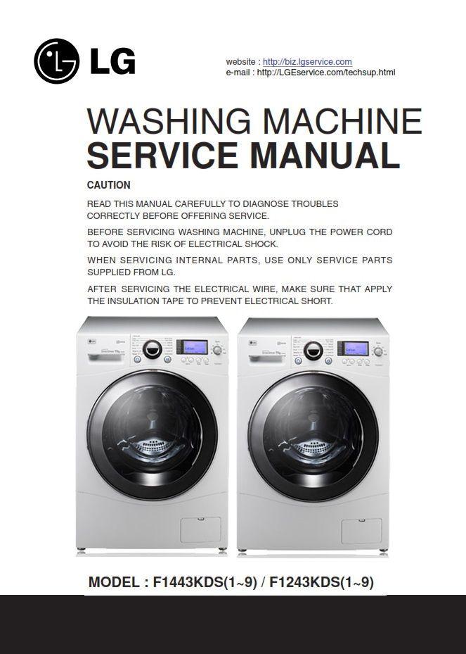 Lg F1443kds F1243kds Washing Machine Service Manual Lg Washing
