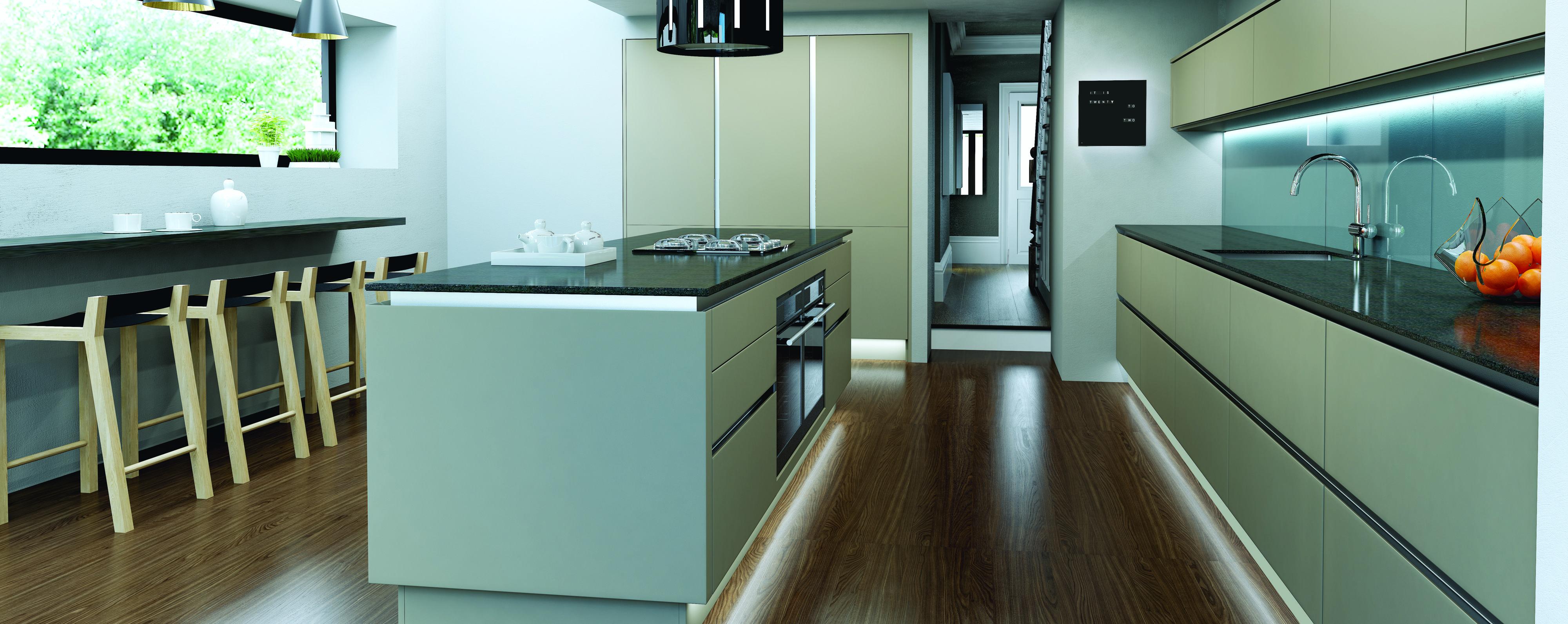 Linear Avant- Shown here in Matt Pumice Avant\'s base cabinet doors ...