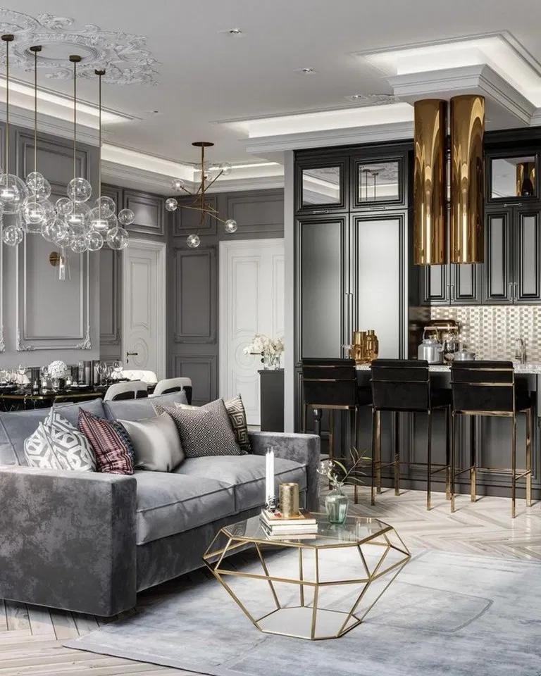 70 Luxurious Living Room Interior Design Ideas Feryhan Com Livingroom Living De Modern Grey Living Room Monochromatic Living Room Living Room Decor Gray