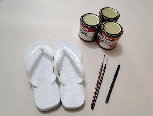 Pintar chinelos